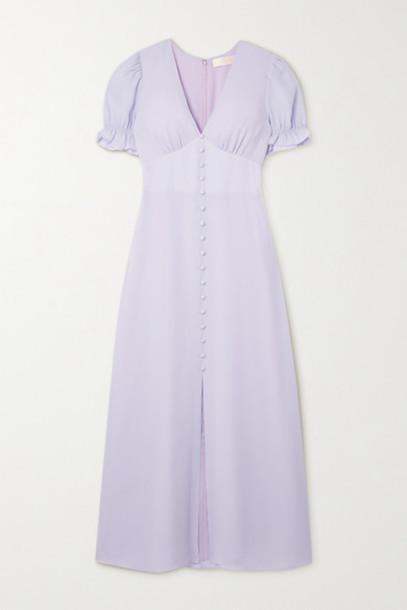 TVF - Lavender Crepe De Chine Maxi Dress - Lilac
