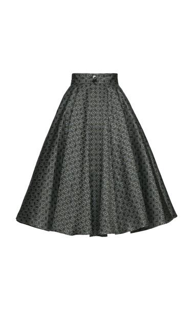 Lena Hoschek Bank Account Jacquard Midi Skirt Size: XL in print
