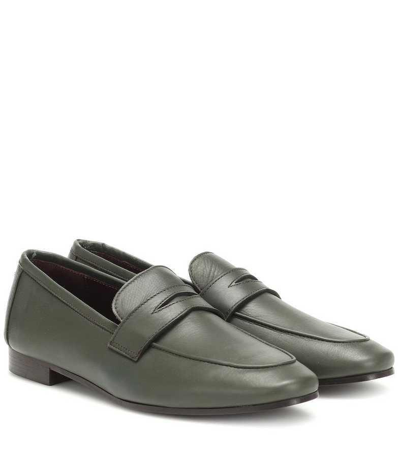 Bougeotte Flaneur Leather loafers in green