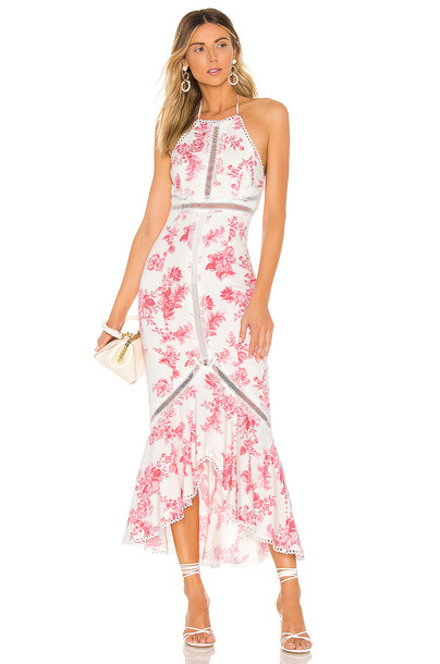 X by NBD Penelope Midi Dress in pink