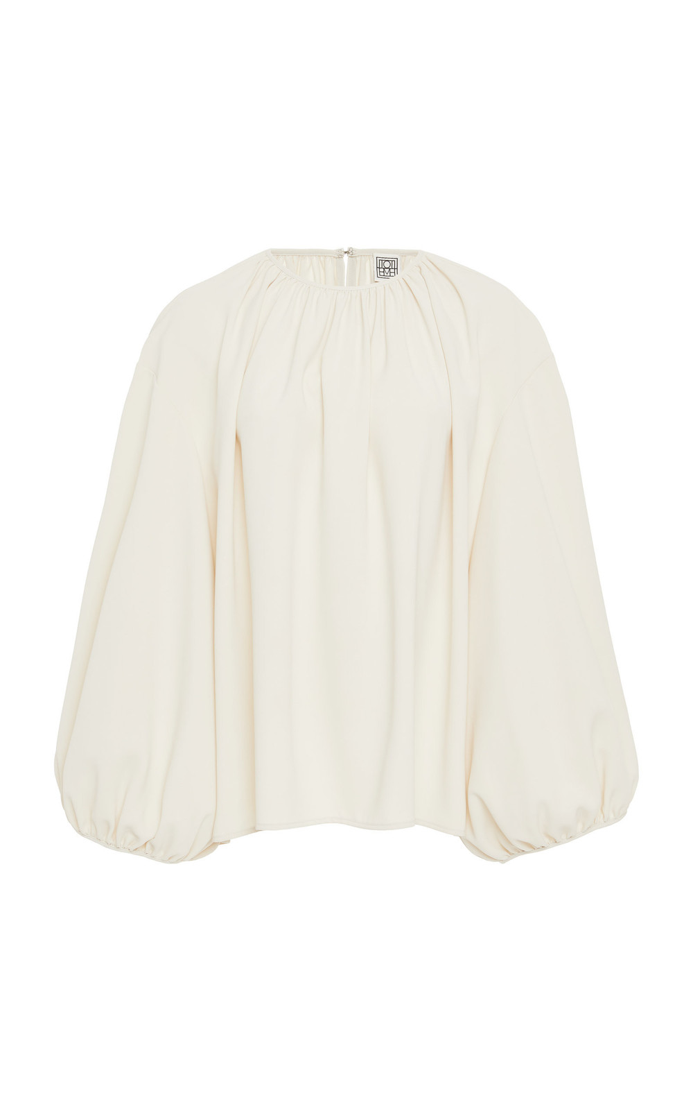 Toteme Pomerance Gathered Crepe Top in ivory