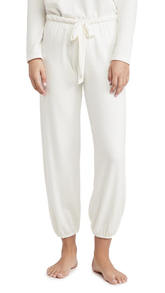Eberjey Softest Sweats Cropped Pants in white