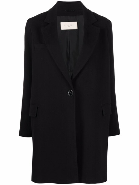 Circolo 1901 fitted single-breasted coat - Black