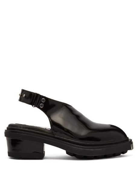 Eytys - Carmen Patent Leather Slingback Heels - Womens - Black