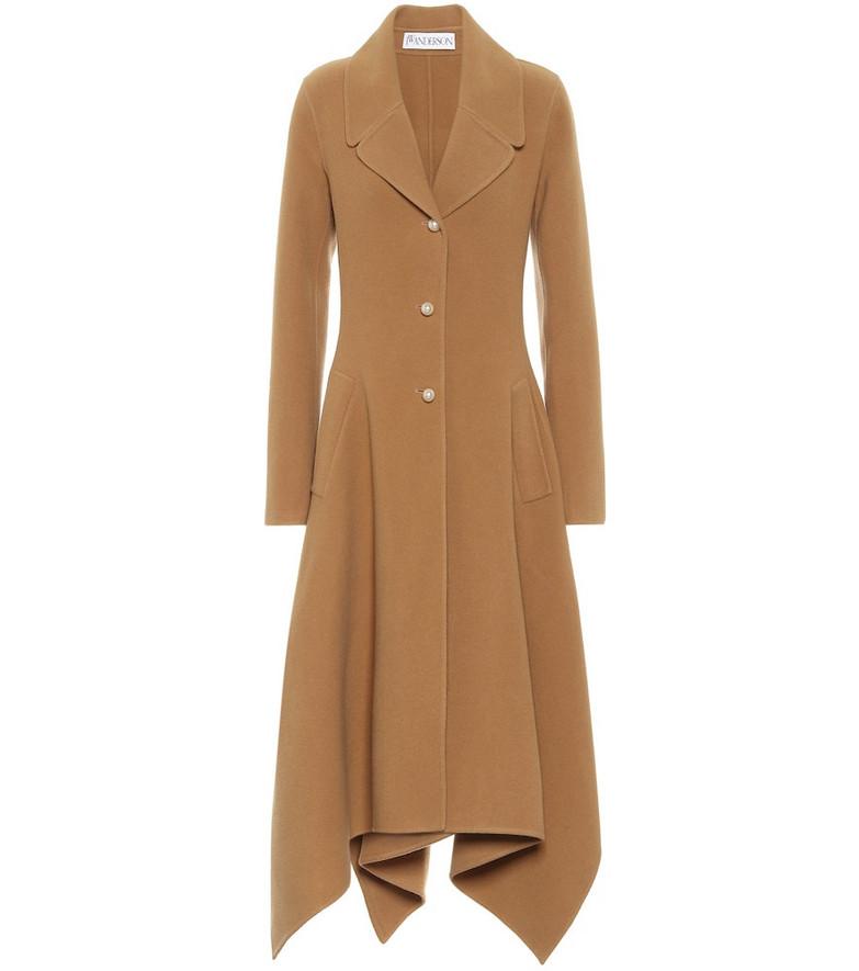 JW Anderson Asymmetric wool coat in beige