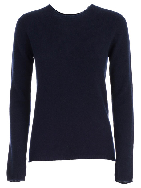 Nuur Sweater L/s Crew Neck Cashmere in navy