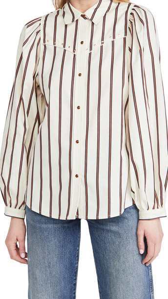 Scotch & Soda Western Shirt With Balloon Sleeves
