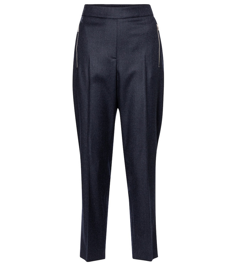 Stella McCartney Claire cropped wool pants in blue