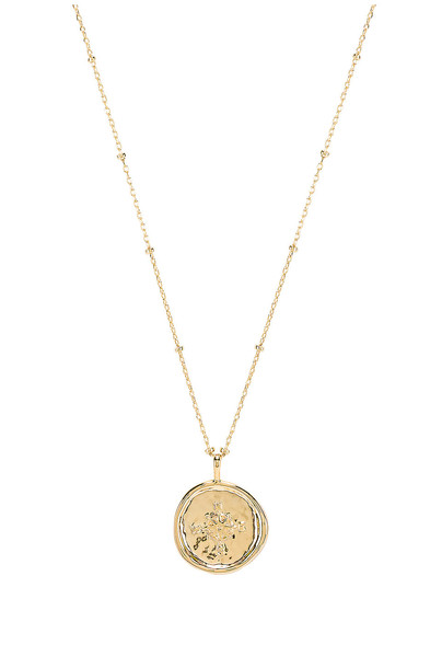 gorjana Compass Coin Necklace in gold / metallic