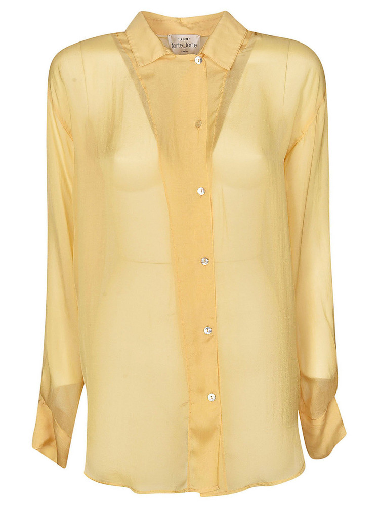 Forte Forte Button-Up Shirt in yellow