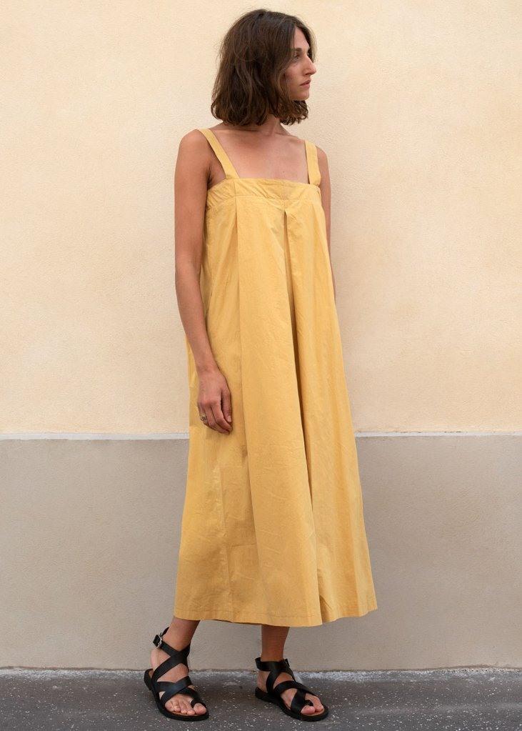 Honey Gold Sleeveless Wide Leg Jumpsuit