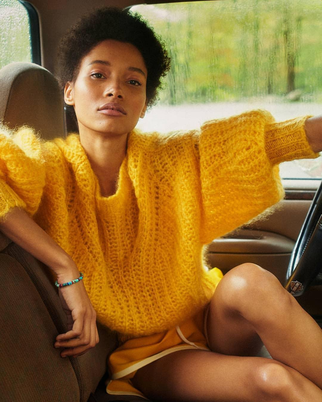 shorts sweater jewels