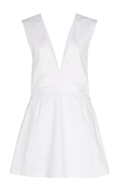 Kalita Lemuria Cotton Playsuit in white