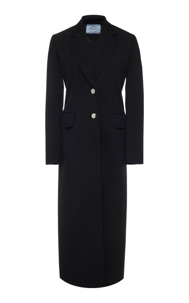 Prada Classic Wool Overcoat in black