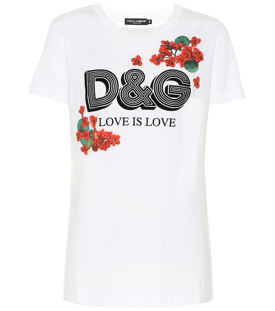 Dolce & Gabbana Logo cotton T-shirt in white