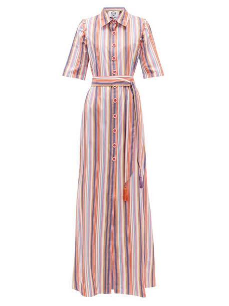Evi Grintela - Katoubia Striped Cotton-poplin Maxi Shirtdress - Womens - Multi