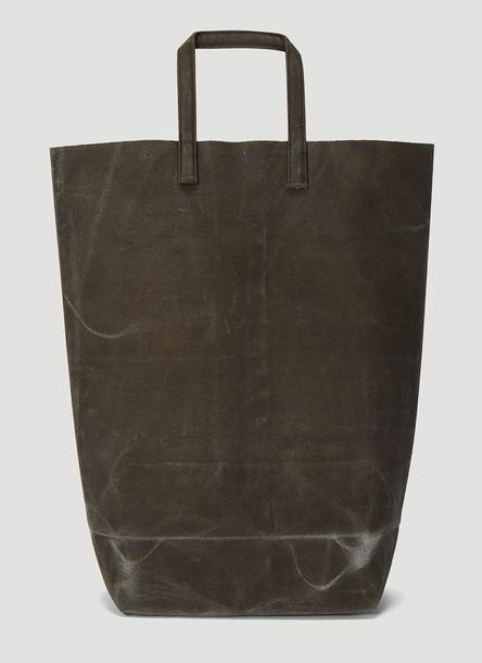 Funagata 005 Waxed Short Handle Bag in Grey size One Size