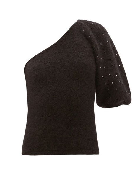 Joostricot - Beaded One-sleeve Mohair-blend Sweater - Womens - Black