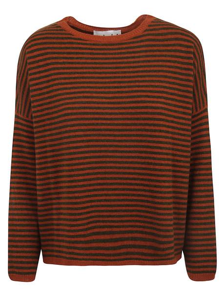 alyki Sophie Sweater in brick / grey