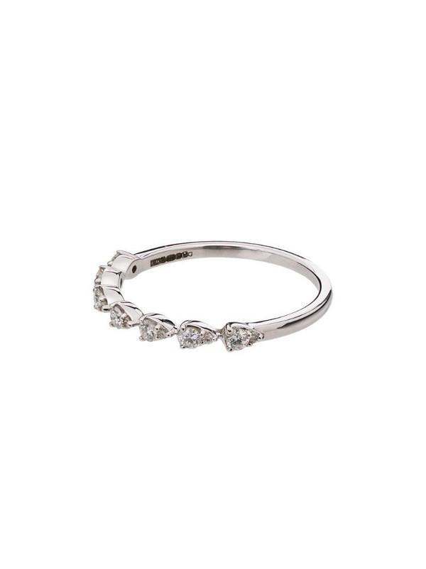 Dana Rebecca Designs 14kt white gold diamond teardrop ring in silver