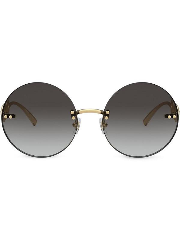 Versace Eyewear round frame sunglasses in gold