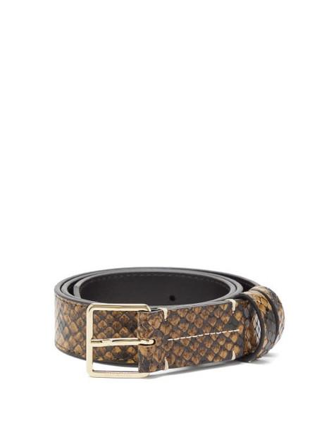 Altuzarra - Python-print Leather Belt - Womens - Brown Multi