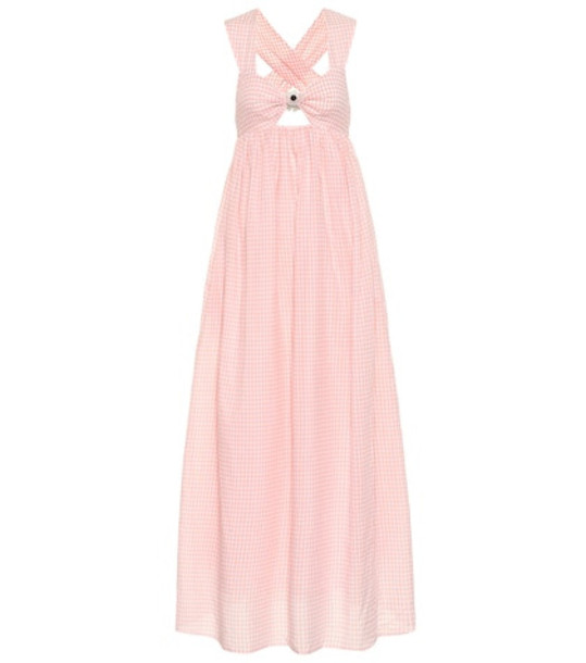Marysia Exclusive to Mytheresa – East Hampton gingham cotton dress in pink