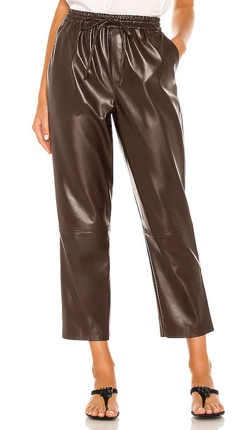 L'Academie The Naya Pant in Chocolate in brown