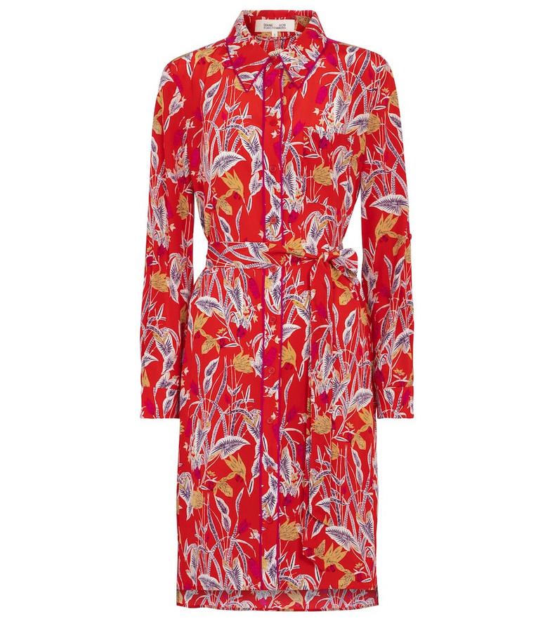 Diane von Furstenberg Prita floral silk crêpe minidress in red
