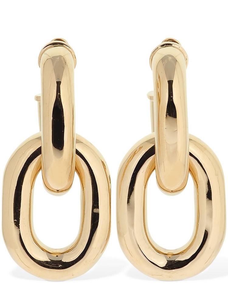 PACO RABANNE Chunky Hoop Earrings in gold