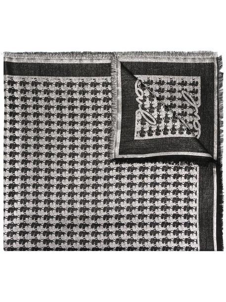 Karl Lagerfeld K/Kameo jacquard scarf in black