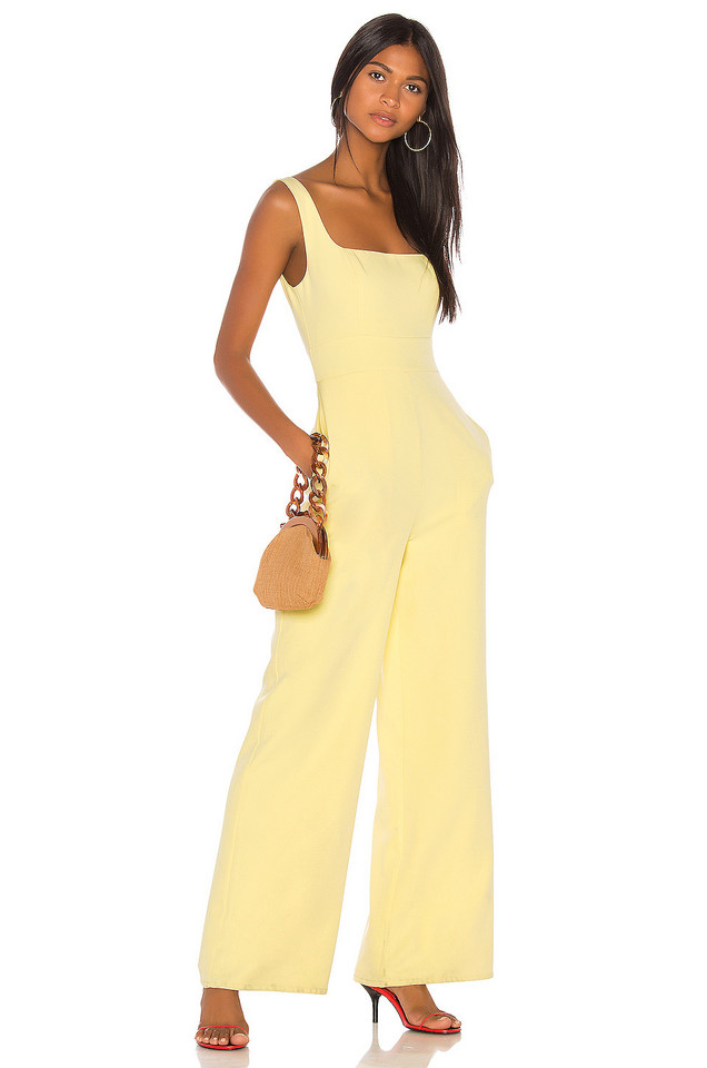 Song of Style Hadley Jumpsuit in yellow