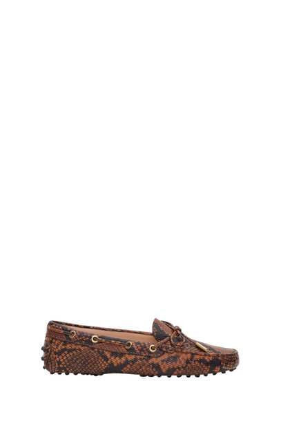 Tods Heaven Gommino Driving Shoes In Python Pritned Leather