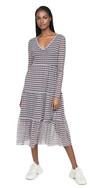 BAUM UND PFERDGARTEN Julianne Dress in blue / brown