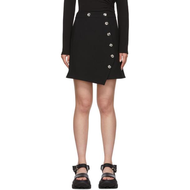 Tibi Black Anson A-Line Miniskirt