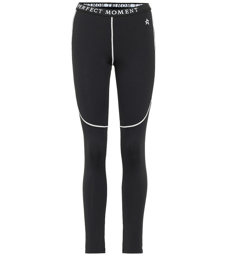 Perfect Moment High-rise thermal leggings in black