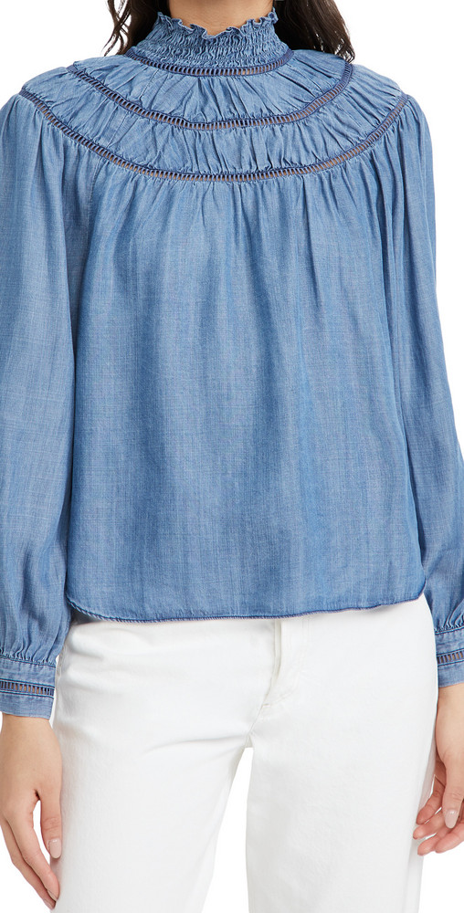 Rebecca Minkoff Jordana Top in blue
