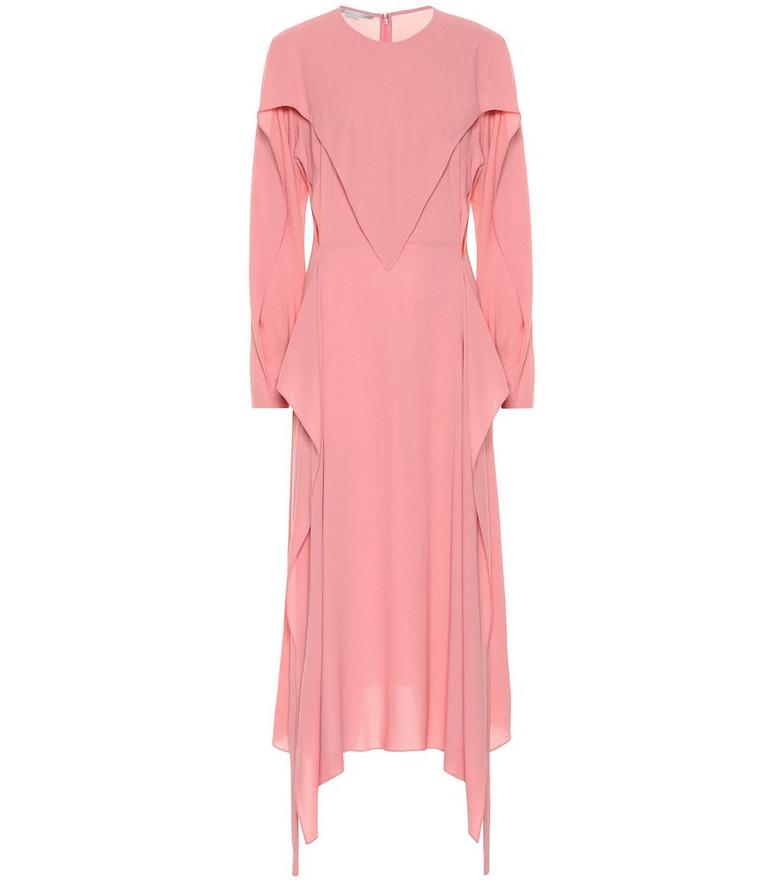 Stella McCartney Crêpe midi dress in pink