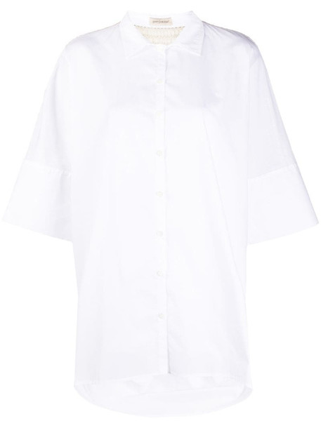 Gentry Portofino oversized short-sleeve shirt in white
