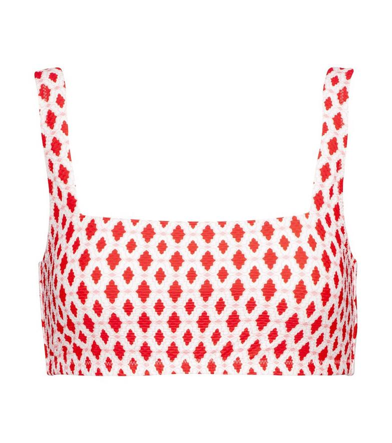 Heidi Klein Marrakesh printed bikini top in red