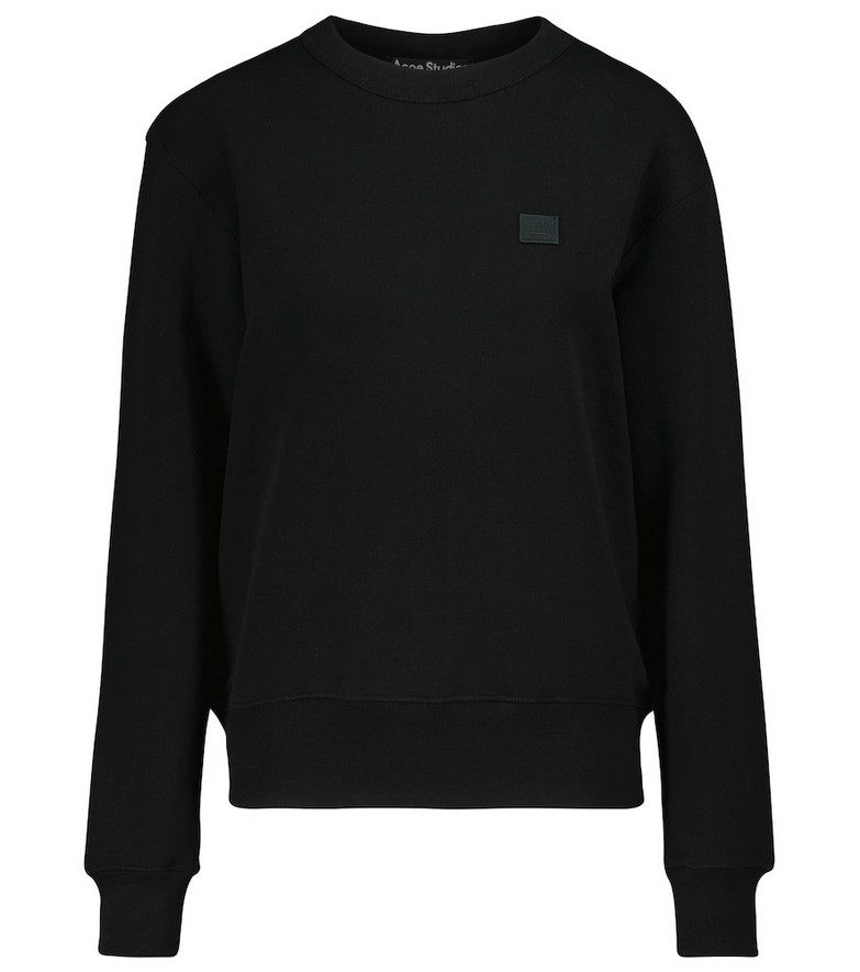 Acne Studios Fairah Face cotton sweatshirt in black