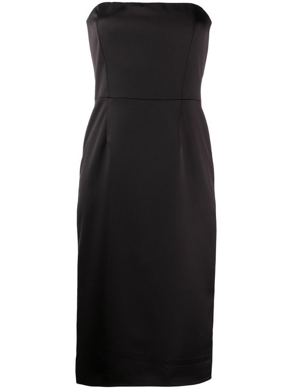 Manuel Ritz fitted strapless dress in black