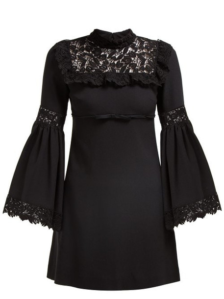 Giambattista Valli - Bell Sleeved Guipure Lace Dress - Womens - Black