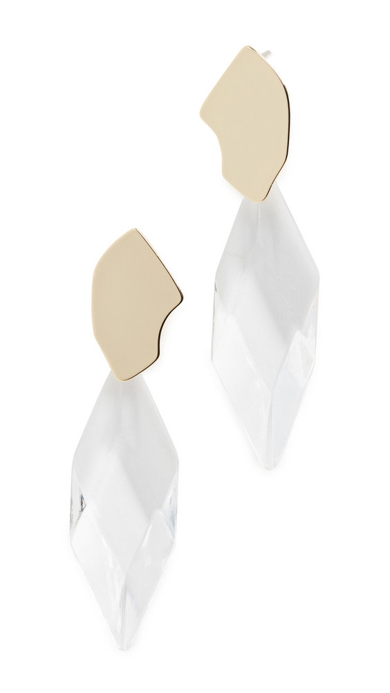 Jules Smith Abstract Crystal Statement Earrings in gold / yellow