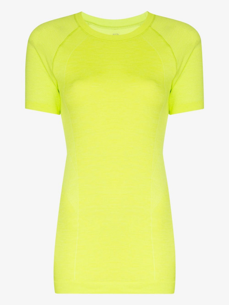 Sweaty Betty SWEATY B ATHLETE SEAMLSS TEE in yellow