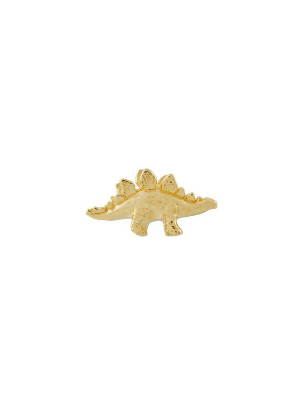 Alex Monroe 18kt yellow gold Teeny Tiny Stegosaurus stud earrings