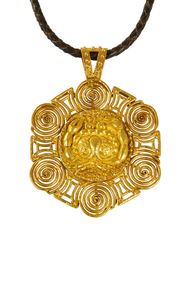 Mahnaz Collection Vintage 18K Gold Cancer Zodiac Pendant
