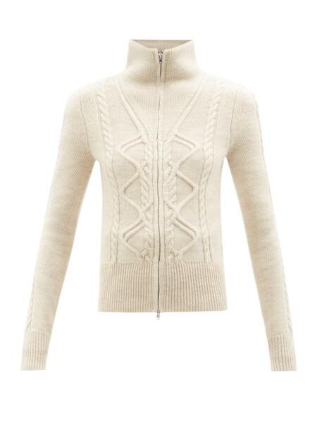 Isabel Marant - Dixon Zipped Wool-blend Sweater - Womens - Ivory