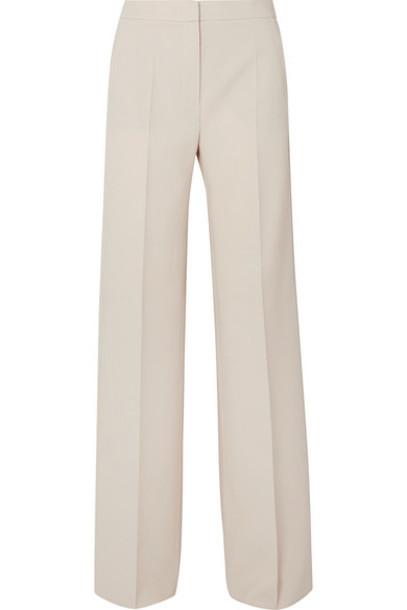 Max Mara - Wool-blend Crepe Wide-leg Pants - Beige