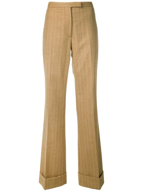 Gianfranco Ferré Pre-Owned 1990 pinstriped trousers in neutrals